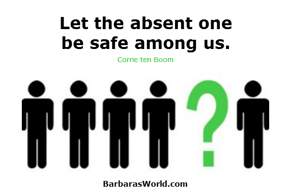 Let the Absent One be Safe