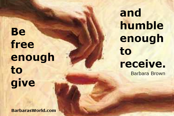 Freely Give, Humbly Receive