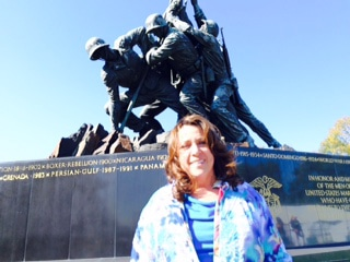 Barbara at Iwo Jima memorial