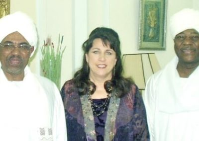 Barbara with Sudanese President Omar Al-Bashir