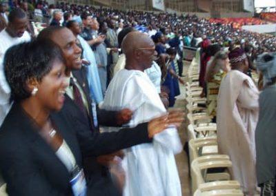 Nigeria audience celebrating