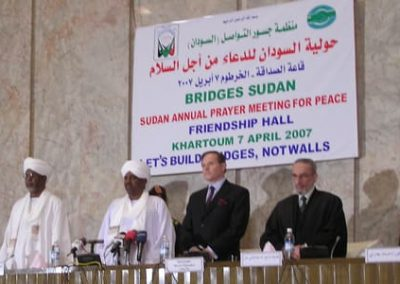 On the dais in Sudan