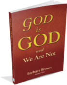 God is God, and we are not [Author: Barbara Brown], book cover